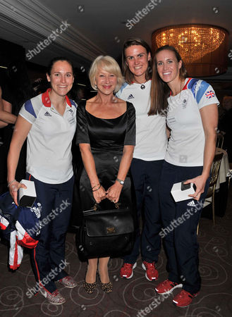 Woman of the Year Awards Lunch at the Intercontinental Hotel Sophie Hosking Dame Helen Mirren Heather Stanning and Helen Glover