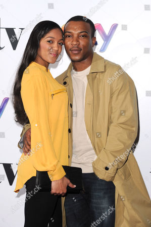 Women in Film and Television Awards 2013 at the Park Lane Hilton Ashley Walters with His Girlfriend Natalie Williams