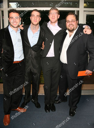 World Premiere of 'In the Hands of the Gods' at the Odeon Westend Leo Pearlman (producer) Benjamin Turner (director) Ben Winston (producer) and Gabe Turner (director)