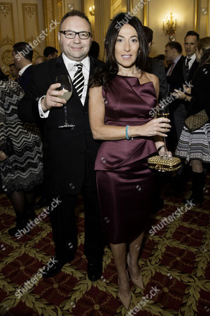 Communications Agency Bell Pottinger Host A Dinner and Auction Raising Over £60 000 in Aid of Charity Ôyouth at Risk' at Lancasterhouse St James Jonathan Shalit with His Wife Katrina Sedley