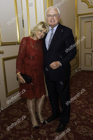 Communications Agency Bell Pottinger Host A Dinner and Auction Raising Over £60 000 in Aid of Charity Ôyouth at Risk' at Lancasterhouse St James Martyn Lewis with His Wife Patsy Baker