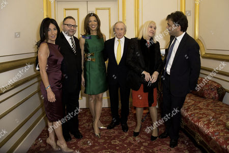 Communications Agency Bell Pottinger Host A Dinner and Auction Raising Over £60 000 in Aid of Charity Ôyouth at Risk' at Lancasterhouse St James Jonathan Shalit with His Wife Katrina Sedley Heather Kerzner Sir Jackie Stewart with His Wife Lady Helen Stewart and James Henderson