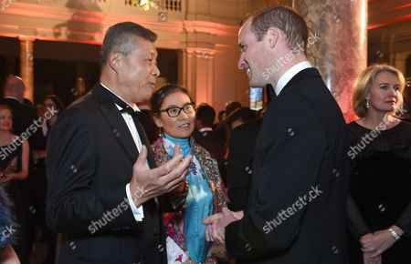 Chinese Ambassador to the UK, Liu Xiaoming speaks with Prince William