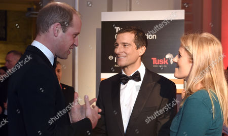 Prince William, Bear Grylls and Shara Grylls