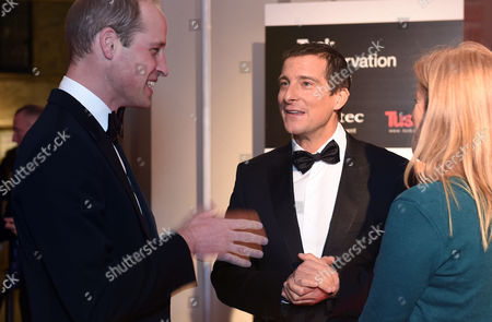 Prince William, Bear Grylls and Shara Grylls
