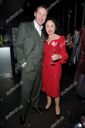 'Di Viv and Rose' Press Night Afterparty at Mintleaf Haymarket Samantha Spiro with Her Husband Mark Leadbetter