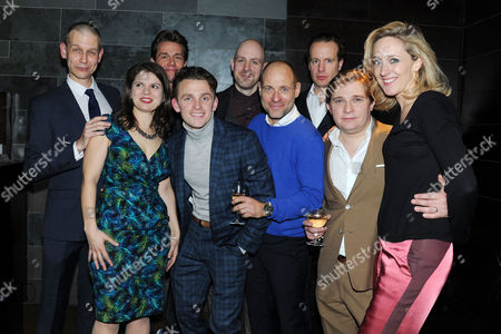 'My Night with Reg' Transfer Press Night at the Apollo Theatre and Afterparty at Mintleaf Haymarket Cast - Richard Cant Jonathan Broadbent Julian Ovenden Matt Bardock Geoffrey Streatfeild and Lewis Reeves with Director Robert Hastie and Eleanor Lloyd and Kate Pakenham