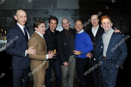 'My Night with Reg' Transfer Press Night at the Apollo Theatre and Afterparty at Mintleaf Haymarket Cast - Richard Cant Jonathan Broadbent Julian Ovenden Matt Bardock Geoffrey Streatfeild and Lewis Reeves