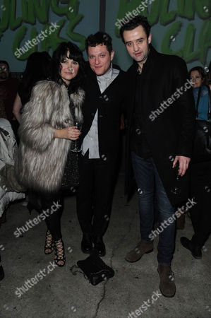 'The Ruling Class' Press Night at the Bankside Vaults Blackfriars Daniel Mays with His Wife Louise Burton and Mathew Horne