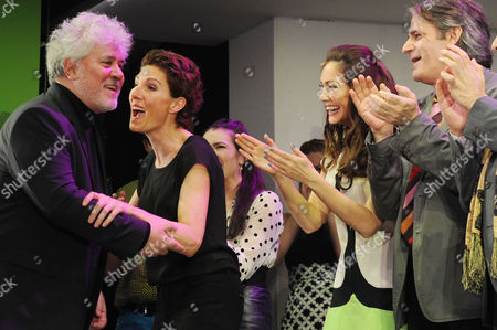 'Women On the Verge of A Nervous Breakdown' Press Night at the Playhouse Theatre and Afterparty at Horseguards Hotel Curtain Call - Tamsin Greig and Pedro Almodovar with Anna Skellern and Bartlett Sher