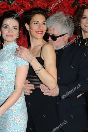 'Women On the Verge of A Nervous Breakdown' Press Night at the Playhouse Theatre and Afterparty at Horseguards Hotel Seline Hizli Tamsin Greig and Pedro Almodovar