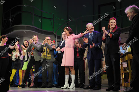 'Women On the Verge of A Nervous Breakdown' Press Night at the Playhouse Theatre and Afterparty at Horseguards Hotel Curtain Call - Tamsin Greig Anna Skellern Bartlett Sher and Haydn Gwynne and Pedro Almodovar