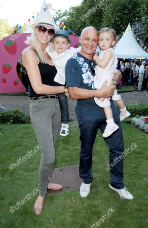 Afterparty For the Uk Premiere of 'Toy Story 3' at Whitehall Gardens Aldo Zilli with His Wife Nikki Welch and Their Son Rocky