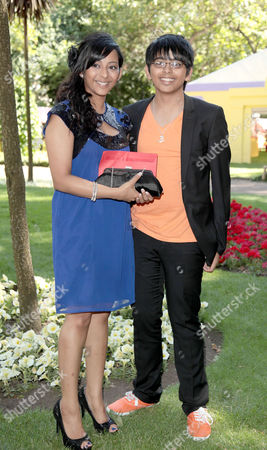 Stock Picture of Afterparty For the Uk Premiere of 'Toy Story 3' at Whitehall Gardens Arjun Rajyagor Winner of Junior Apprentice with His Sister Kunjal