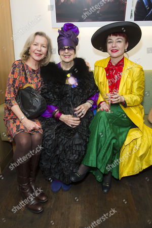in A Twist On Its Famous Bright Young Things Initiative Selfridges Celebrates Talent and Creativity in Older Generations with the Launch Today of Bright Old Things Which Will Be Running Until the End of February 2015 Molly Parkin with Her Daughters Sarah and Sophie