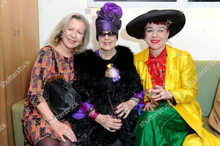 Stock Picture of in A Twist On Its Famous Bright Young Things Initiative Selfridges Celebrates Talent and Creativity in Older Generations with the Launch Today of Bright Old Things Which Will Be Running Until the End of February 2015 Molly Parkin with Her Daughters Sarah and Sophie