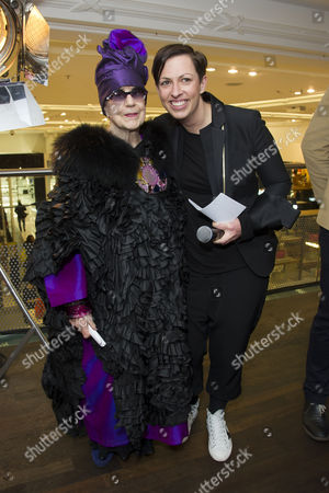 in A Twist On Its Famous Bright Young Things Initiative Selfridges Celebrates Talent and Creativity in Older Generations with the Launch Today of Bright Old Things Which Will Be Running Until the End of February 2015 Molly Parkin and Linda Hewson (creative Director Selfridges)