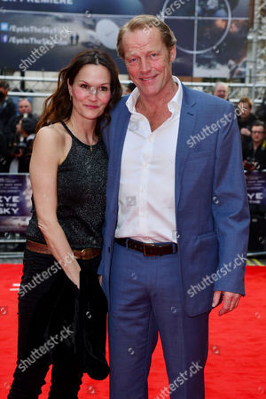 'Eye in the Sky' Uk Premiere at the Curzon Mayfair Iain Glen with His Partner Charlotte Emmerson