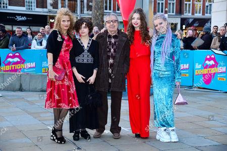 Opening Night Gala of Exhibitionism at Saatchi Gallery Bill Wyman with His Wife Suzanne and Their Children Jessica Rose Wyman Matilda Mae Wyman Katherine Noelle Wyman