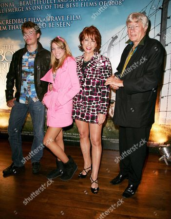 Reception Before the World Premiere of 'The Boy in the Striped Pyjama's' at 17 Berkeley Street at the Curzon Mayfair Kathy Lette & Geoffery Robinson with Their Son and Daughter