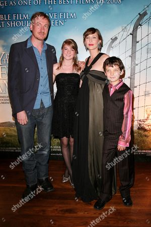 Reception Before the World Premiere of 'The Boy in the Striped Pyjama's' at 17 Berkeley Street at the Curzon Mayfair David Thewlis Amber Beattie Vera Farmiga and Asa Butterfield