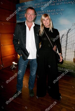Reception Before the World Premiere of 'The Boy in the Striped Pyjama's' at 17 Berkeley Street at the Curzon Mayfair Sean Pertwee with His Wife Jacqui Hamilton-smith