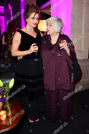 'Suffragette' Opening Gala of the Bfi London Film Festival Afterparty at the Old Billingsgate Market Helena Bonham-carter with Her Mother Elena Propper De Callejon