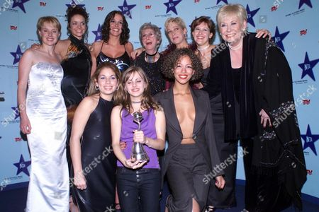 the National Television Awards at the Royal Albert Hall Coronation Street Cast - Sally Whittaker Jennifer James Suranne Jones Maggie Jones Denise Welch Nikki Sanderson Elizabeth Dawn Naomi Russell and Tina O'brien