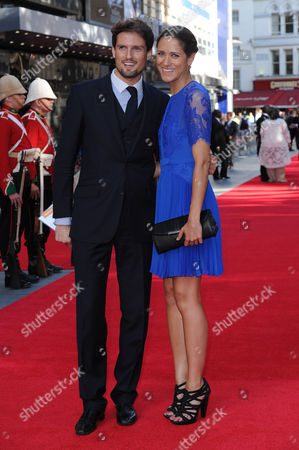 Zulu Anniverary Screening at the Odeon Leicester Square Stephen Bowman with His Girlfriend