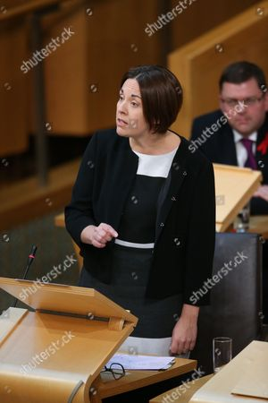 Stock Image of Kezia Dugdale MSP, Leader of the Scottish Labour Party, and Colin Smyth