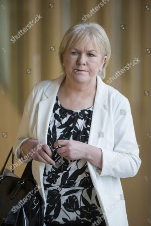 Stock Image of Johann Lamont makes her way to the Debating Chamber