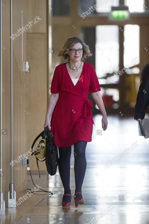 Gillian Martin makes her way to the Debating Chamber