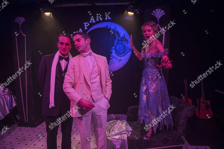 Cressida Bonas who plays Daisy with Ludovic Hughes as Jay Gatsby and Nick carraway as Morgan Val Baker