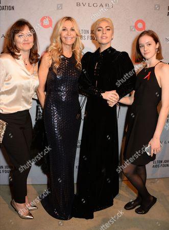 Anne Aslett, Melissa Odabash, Lady Gaga and Olivia Aslett