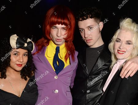 Josh Quinton and Pam Hogg with guests