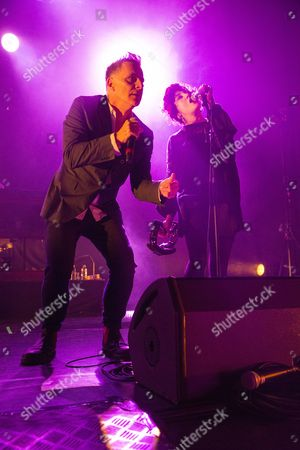 Editorial photo of Deacon Blue in concert at Usher Hall, Edinburgh, Scotland, UK - 01 Dec 2016
