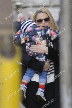 Michelle Hunziker with her daughter Celeste Trussardi