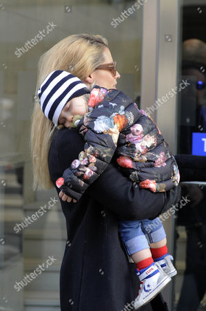 Michelle Hunziker with her daughter Celeste Trussardi