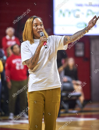Piscataway, New Jersey, U.S. - Former Rutgers player Cappie Pondexter jersey #25 was retired at halftime during NCAA basketball action between the Duke Blue Devils and the Rutgers Scarlet Knights at Rutgers Athletic Center in Piscataway, New Jersey