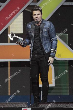 Dani Martin attends the Los 40 Music Awards 2016 at Palau Sant Jordi