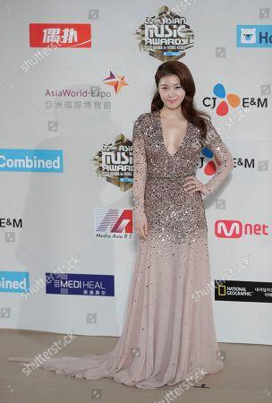 South Korean actress Ha Ji-won poses for photos on the red carpet of the 2016 Mnet Asian Music Awards (MAMA) in Hong Kong