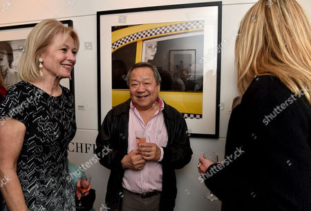 Stock Picture of 03 11 15 'The Best of Patrick Lichfield' Private View at the Little Black Galley Park Walk Fulham Lady Annunziata Asquith Eddie Lim and Lady Rosie Anson