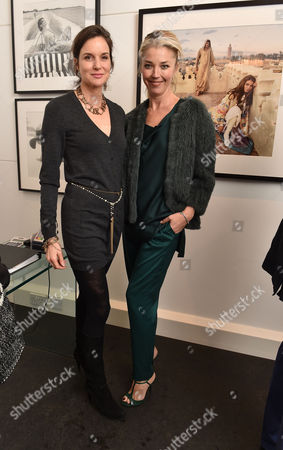 03 11 15 'The Best of Patrick Lichfield' Private View at the Little Black Galley Park Walk Fulham Tamara Beckwith (r)