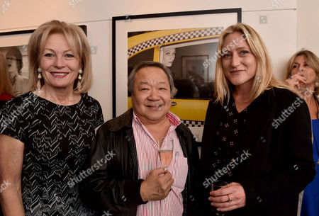 Stock Image of 03 11 15 'The Best of Patrick Lichfield' Private View at the Little Black Galley Park Walk Fulham Lady Annunziata Asquith Eddie Lim and Lady Rosie Anson