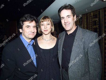 Stock Image of 21st Anniverary of Release of Amerian Werewolf in London Celebrated with A Cele Sreening at the Curzon Cinama Mayfair Pixs Show Jenny Aggutter Griffin Dunne(left) and David Naughton the Co Stars of the Film at the Screening Tonite