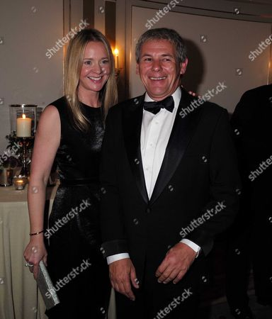 10 11 15 25th Cartier Racing Awards at the Ballroom of the Dorchester Hotel Park Lane London Kate Reardon with Her Husband Charles Gordon-watson