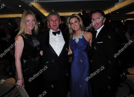 10 11 15 25th Cartier Racing Awards at the Ballroom of the Dorchester Hotel Park Lane London Kate Reardon with Her Husband Charles Gordon-watson with Ap Mccoy and His Wife Chanelle