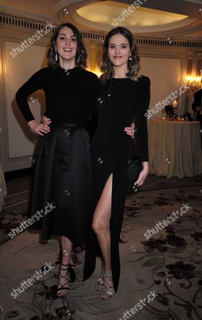 10 11 15 25th Cartier Racing Awards at the Ballroom of the Dorchester Hotel Park Lane London Chloe & Francesca Herbert