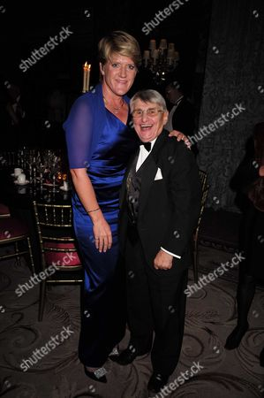 10 11 15 25th Cartier Racing Awards at the Ballroom of the Dorchester Hotel Park Lane London Claire Balding and Willie Carson