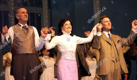 A New Cast Took Over For the Next Season of 'My Fair Lady' at the Theatre Royal Drury Lane Anthony Andrews As Prof Henry Higgins Russ Abbott As Alfred P Doolittle Laura Michelle Kelly As Eliza Dolittle the Curtain Call